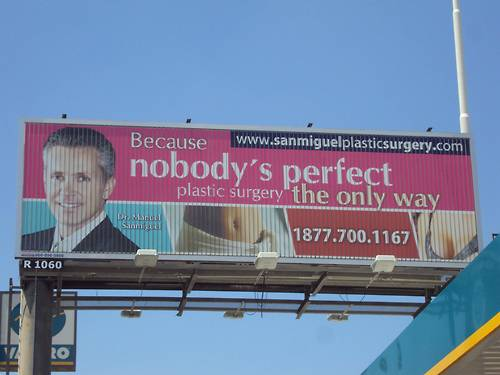 Plastic Surgery Billboard The Only Way
