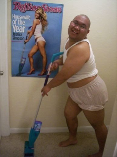 Fat Asian Guy Is Housewife of the Year