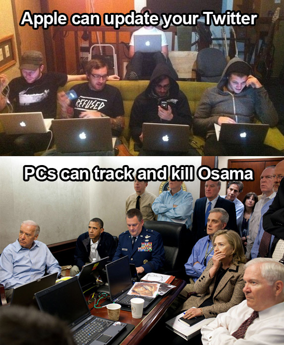 this ends the pc vs apple debate